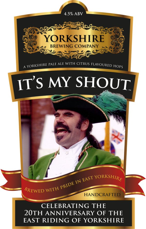 'It's My Shout' Yorkshire Pale Ale featuring Michael on the label.